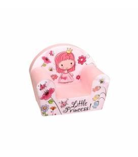 """Rožinis vaikiškas foteliukas - """"Miela mažoji princesė"""""""
