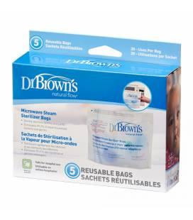 DR. BROWN'S mikrobangų krosnelės sterilizavimo maišeliai, 5 vnt.