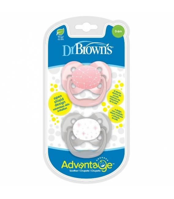 Dvipusiai Advantage čiulptukai Dr. Brown's 0-6 mėn., 2 vnt. Stars
