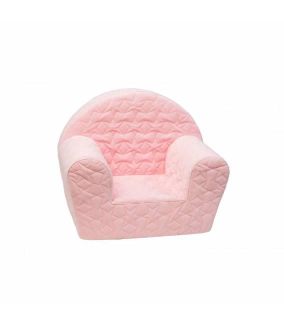 Rožinis dygsniuotas foteliukas mergaitėms