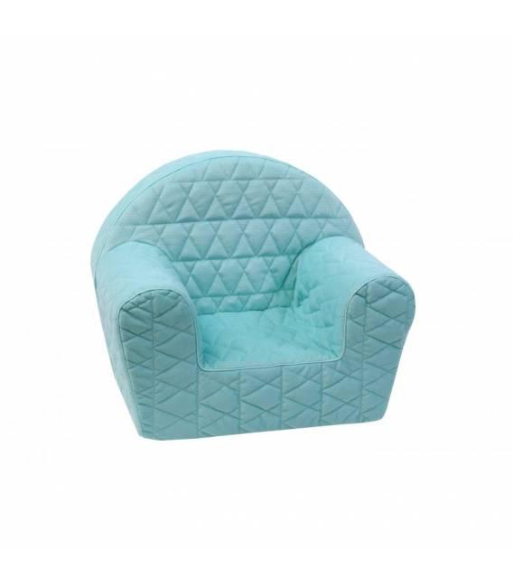 Mėtinis dygsniuotas foteliukas