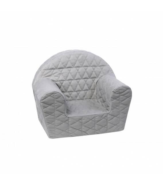 Pilkas dygsniuotas foteliukas