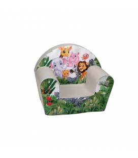 """Vaikiškas minkštas foteliukas - """"Afrikos džiunglės"""""""