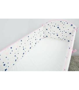 """Ankras 360 cm. apsaugėlės lovytei """"Stars"""", rožinė"""