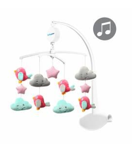 BabyOno muzikinė karuselė paukščiukai ir debesėliai