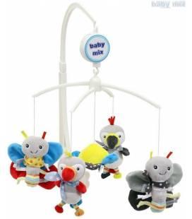 Muzikinė karuselė Baby mix, 475M, drugeliai ir paukščiai