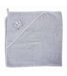 CebaBaby rankšluostis su gobtuvu 100x100 pilka, žvaigždė