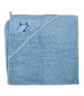 CebaBaby rankšluostis su gobtuvu 100x100 mėlynas, ryklys