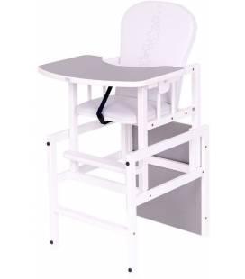 Maitinimo kėdutė Drewex žvaigždutės, pilka-balta