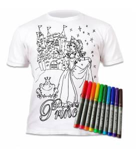 Spalvinami marškinėliai, Princesės 3-4 metai (plotis 38 cm, ilgis 45 cm)