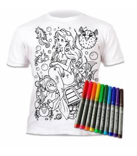 Spalvinami marškinėliai, Undinėlė 7-8 metai (plotis 43 cm, ilgis 55 cm)