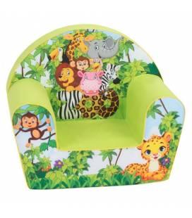 Žalsvas foteliukas su gyvūnėliais ZOO park
