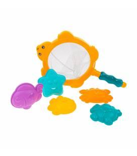 Akuku vonios žaislų rinkinys su žvejo tinkleliu., A0455