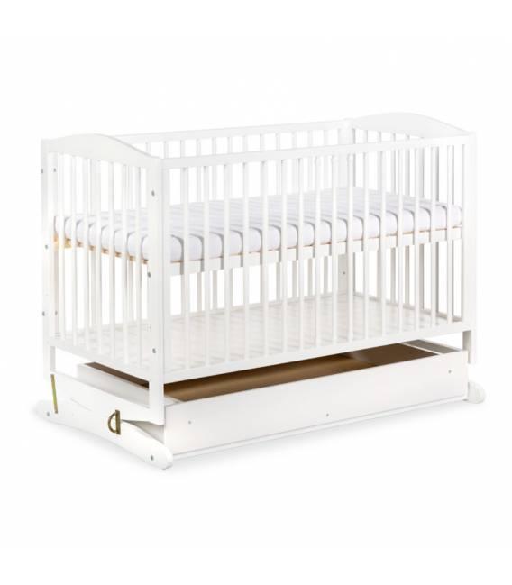 Supama lovytė KLUPŠ Radek su stalčiumi - Balta