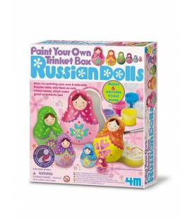 Kūrybinis rinkinys 4M PAINT YOUR OWN BOX RUSSIAN DOLLS, 00-04617