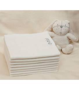 LORITA vystyklas flanelinis baltas 90x80cm, 93
