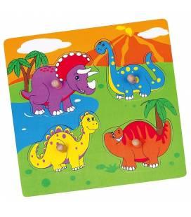 Medinė dėlionė Viga, Dinozaurai, 59565