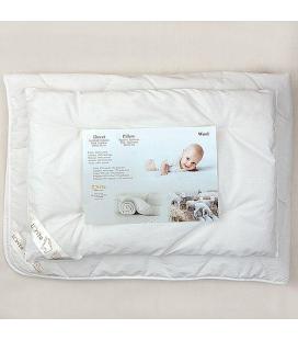 Vilnos antklodė su pagalve balta LORITA