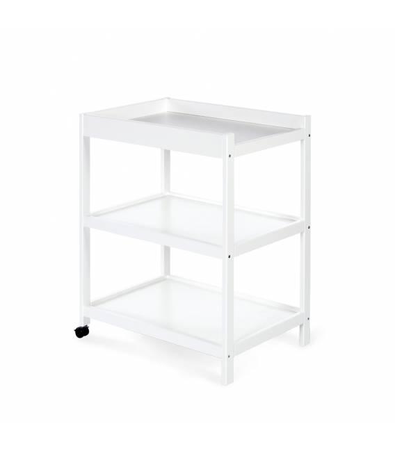 Klupš medinis vystymo stalas - balta