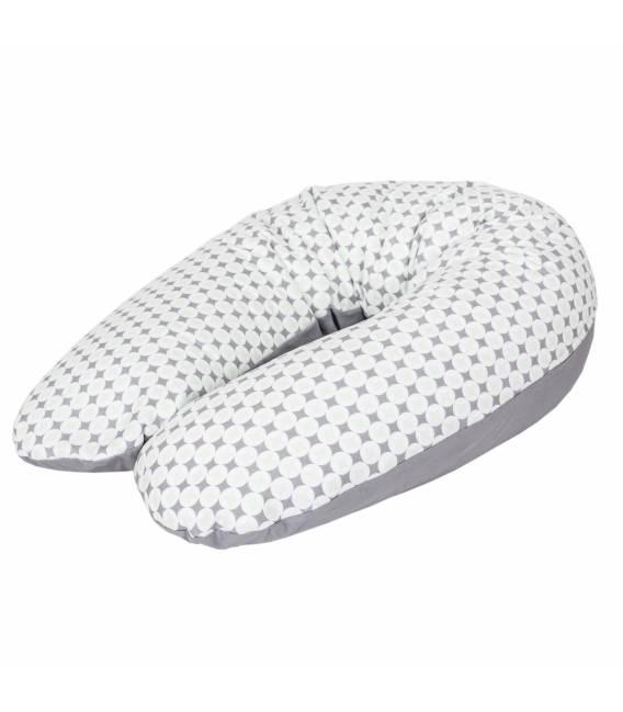 CebaBaby maitinimo pagalvė džersej, 190x35cm, rombai