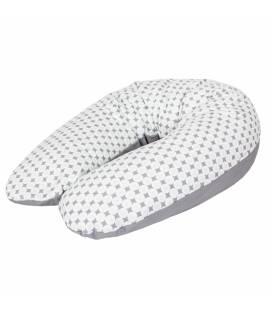 CebaBaby maitinimo pagalvė džersej MULTI, 190x35cm, rombai